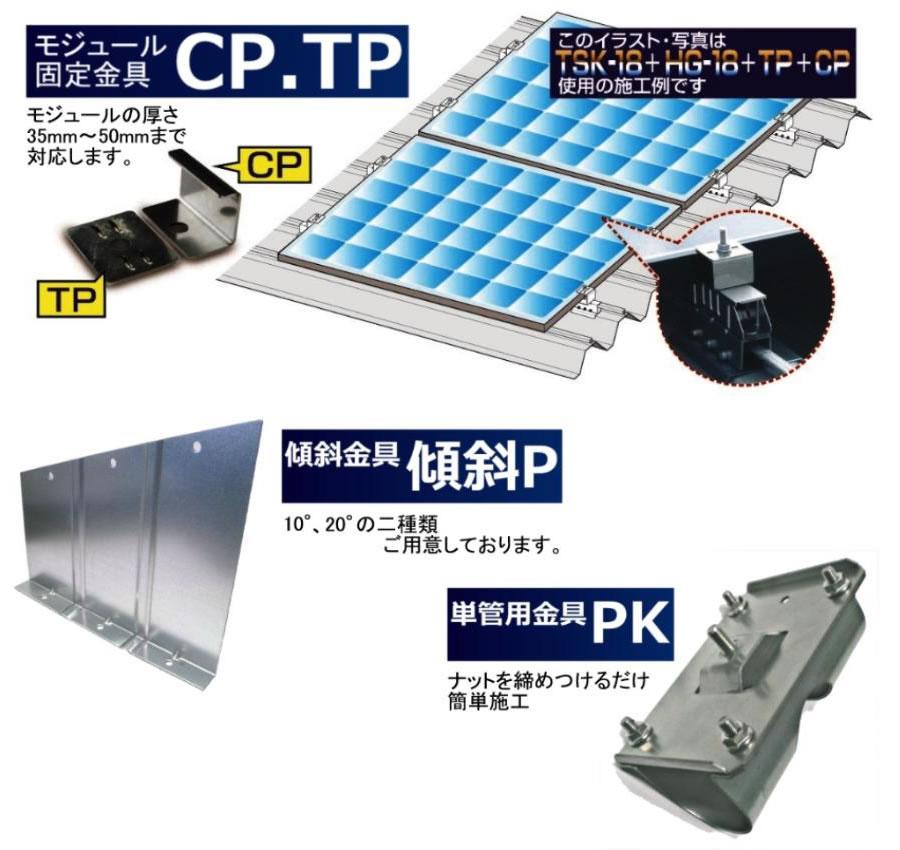 モジュール固定金具CP.TP